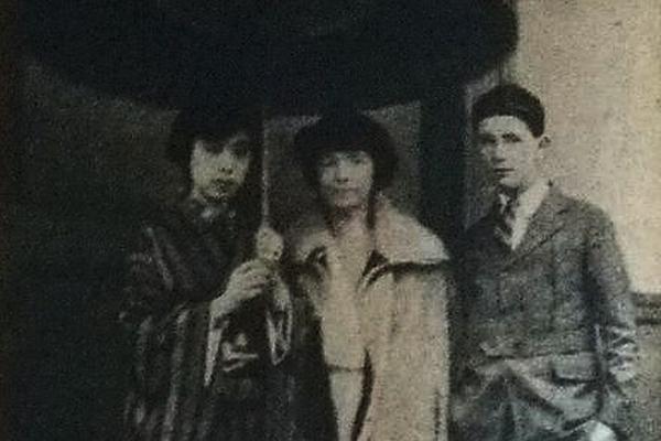Shizue Kato mit Margaret Sanger und deren Sohn